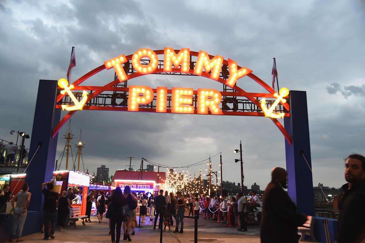 <p>TommyPier featured an old-school arcade, hot dog and doughnut stands and an impressive 40-foot Ferris wheel.<br /><i>[Photo: Getty]</i> </p>