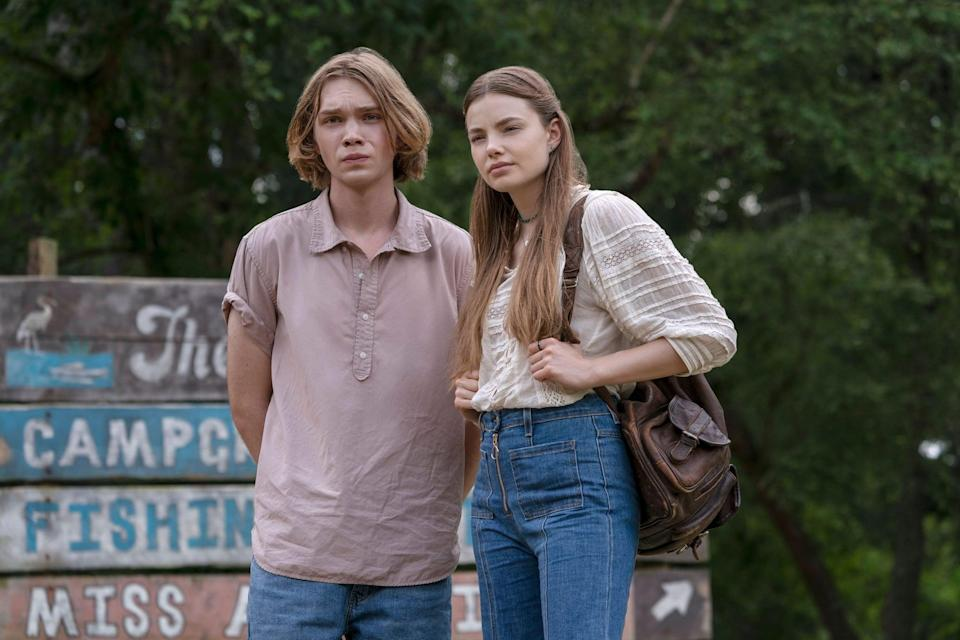 """<p>Based on a YA novel by John Green, <strong>Looking for Alaska</strong> is an earnest story about first love and tragedy. In hopes of becoming more grown up, Miles """"Pudge"""" Halter enrolls in a boarding school, where he meets a new group of friends and the elusive Alaska, who immediately steals his heart. </p> <p><a href=""""https://www.hulu.com/series/de237b2b-f39a-437a-ab5c-610c50298c20"""" class=""""link rapid-noclick-resp"""" rel=""""nofollow noopener"""" target=""""_blank"""" data-ylk=""""slk:Watch Looking For Alaska on Hulu."""">Watch <strong>Looking For Alaska</strong> on Hulu.</a></p>"""