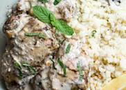 """<h2>12. Keto Slow Cooker Chicken Thighs</h2> <p>Pro tip: It's even better paired with some cauliflower mashed potatoes.</p> <p><a class=""""link rapid-noclick-resp"""" href=""""https://www.foodfaithfitness.com/easy-middle-eastern-keto-slow-cooker-chicken-thighs/"""" rel=""""nofollow noopener"""" target=""""_blank"""" data-ylk=""""slk:Get the recipe"""">Get the recipe</a></p>"""