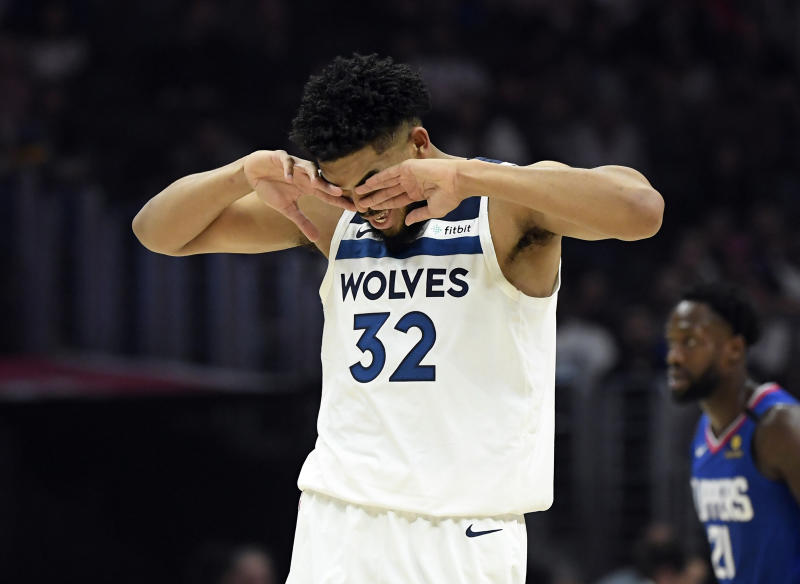 How much longer can Karl-Anthony Towns stand it in Minnesota? (Kevork Djansezian/Getty Images)