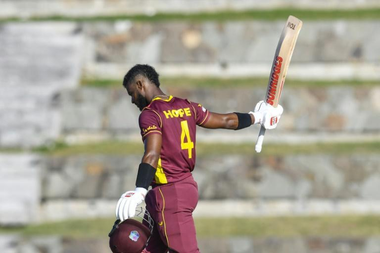 Hope and glory as Shai Hope of West Indies celebrates his century