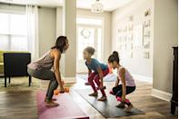 """<p>Bring a healthy spin to Mother's Day with a Zoom or outdoor <a href=""""https://www.womansday.com/health-fitness/a33456681/at-home-arm-exercises/"""" rel=""""nofollow noopener"""" target=""""_blank"""" data-ylk=""""slk:workout session"""" class=""""link rapid-noclick-resp"""">workout session</a>. A private yoga class or bootcamp will help you and mom work up a sweat before enjoying a special brunch together.</p>"""