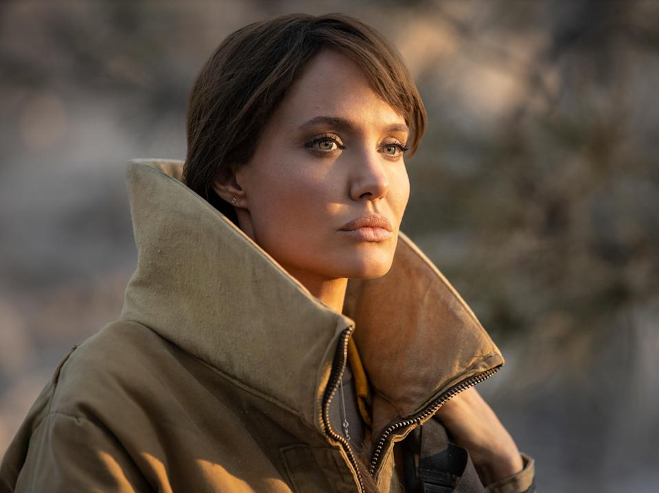 <p>As Hannah, Jolie has the languid but powerful repose of a lion overseeing its pride</p> (Warner Bros)
