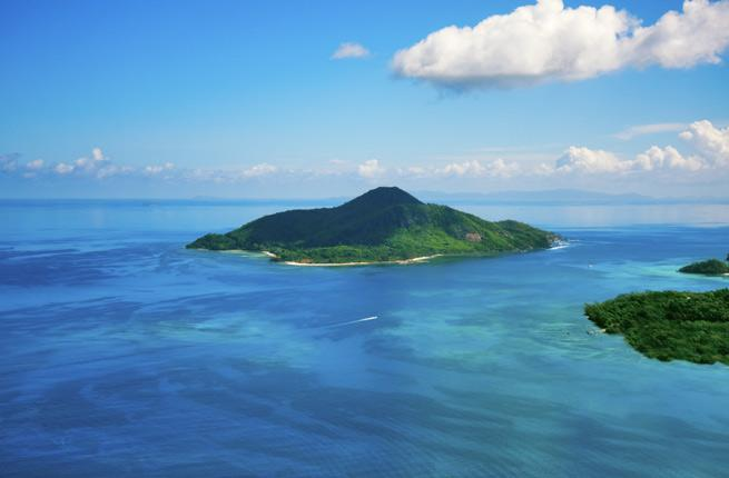 <p><strong>Where: </strong>Seychelles</p>  <p>With a smattering of blonde beaches, lush tropical forests, and translucent, gem-toned marine reserves, the archipelago, comprised of 155 islands, is one of the most attractive in the world.</p>  <p><strong>Insider Tip</strong>: To get to many of the private islands, a transfer via is the only option, and a highlight in itself. You'll be able to watch the island appear over the horizon and stroll on the beach when you land. When returning, try to get a sunset flight to maximize the beauty of the scenery.</p>  <p><strong>Plan Your Trip</strong>: Visit </p>