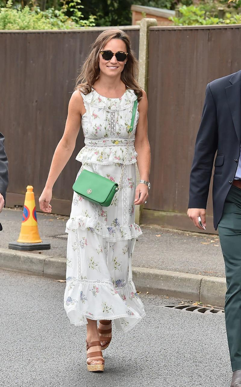 Pippa Middleton arriving at Wimbledon today - Credit: GC