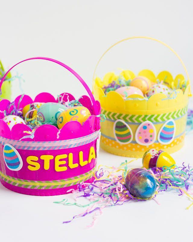 "<p>Looking for a fun, family craft? Let kids DIY their own Easter baskets. Simply purchase the vessel—a plastic or metal pail works best for this—and a variety of craft supplies, including foam stickers and washi tape. </p><p>Get the tutorial at <a href=""https://designimprovised.com/2016/03/simple-kids-craft-diy-easter-baskets.html"" rel=""nofollow noopener"" target=""_blank"" data-ylk=""slk:Design Improvised."" class=""link rapid-noclick-resp"">Design Improvised.</a></p><p><a class=""link rapid-noclick-resp"" href=""https://www.amazon.com/Foam-Letter-Stickers-Self-Adhesive-Multicolored/dp/B07JPZ4WQ3?tag=syn-yahoo-20&ascsubtag=%5Bartid%7C10072.g.30506642%5Bsrc%7Cyahoo-us"" rel=""nofollow noopener"" target=""_blank"" data-ylk=""slk:SHOP STICKERS"">SHOP STICKERS</a></p>"