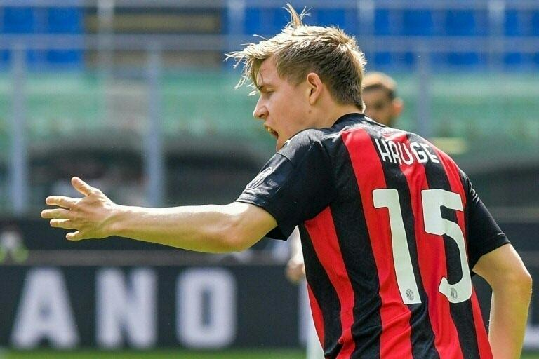 AC Milan substitute Jens Petter Hauge rescued a point in the San Siro.