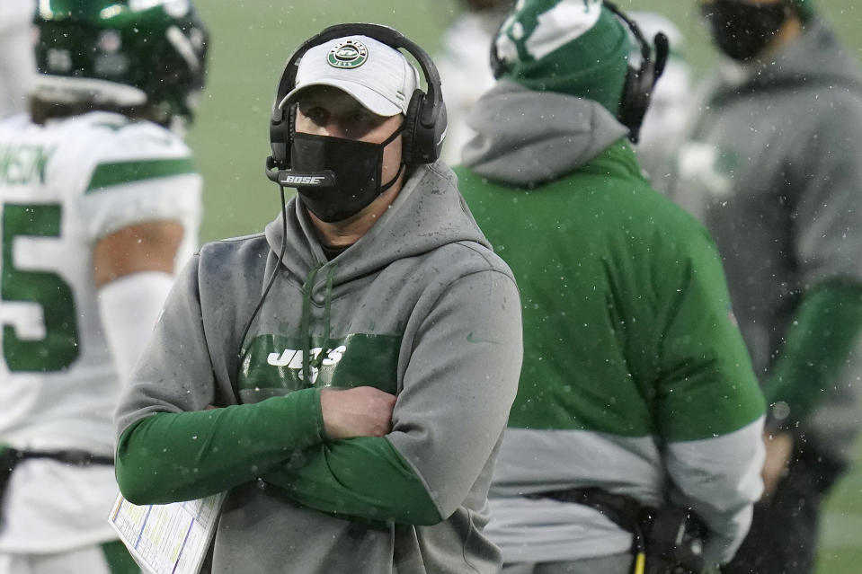 Former New York Jets head coach Adam Gase was fired after a second straight losing season. (AP Photo/Charles Krupa)
