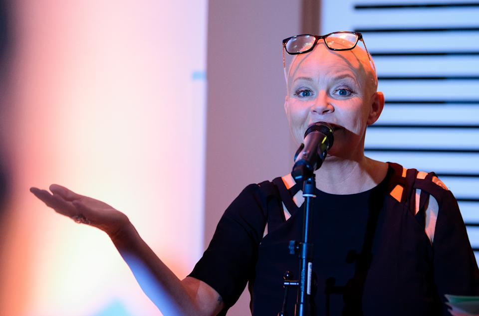 LONDON, ENGLAND - SEPTEMBER 25: Gail Porter talks at Wellcome Collection on September 25, 2018 in London, England. (Photo by Joe Maher/Getty Images)