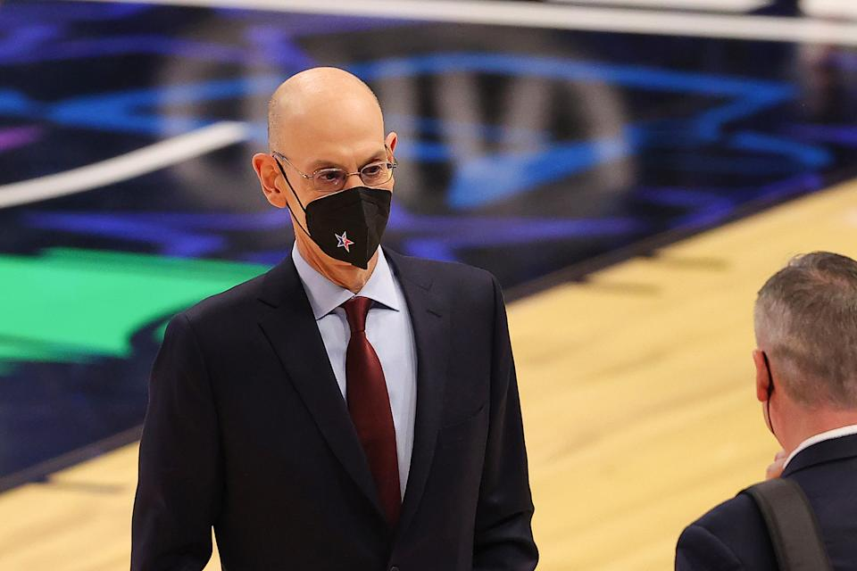 NBA Commissioner Adam Silver at the 2021 All-Star Game