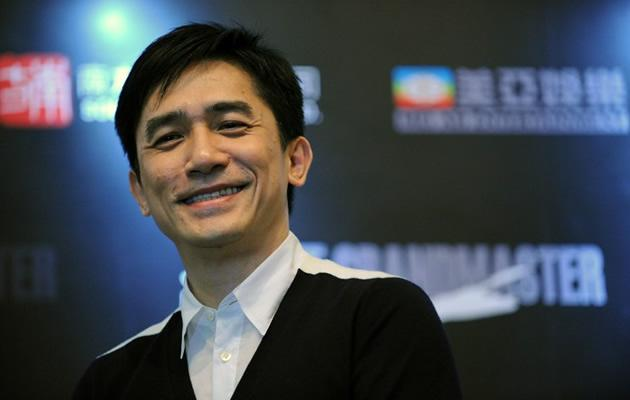 Leung is all smiles at the Singapore press conference for The Grandmaster (ROSLAN RAHMAN / AFP)