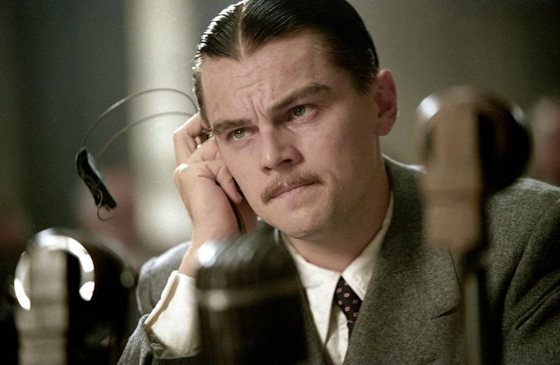 Leonardo DiCaprio as Howard Hughes in The Aviator