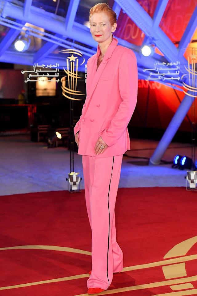 Tilda Swinton attended the opening ceremony during the 18th Marrakech International Film Festival in Morocco.
