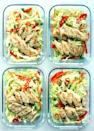 <p>Chicken satay moves from classic Thai restaurant appetizer to delicious homemade dinner with this easy meal-prep recipe. A crunchy Asian-inspired slaw serves as the satisfying low-carb base, and the bold, creamy peanut sauce brings a hint of heat to every bite.</p>