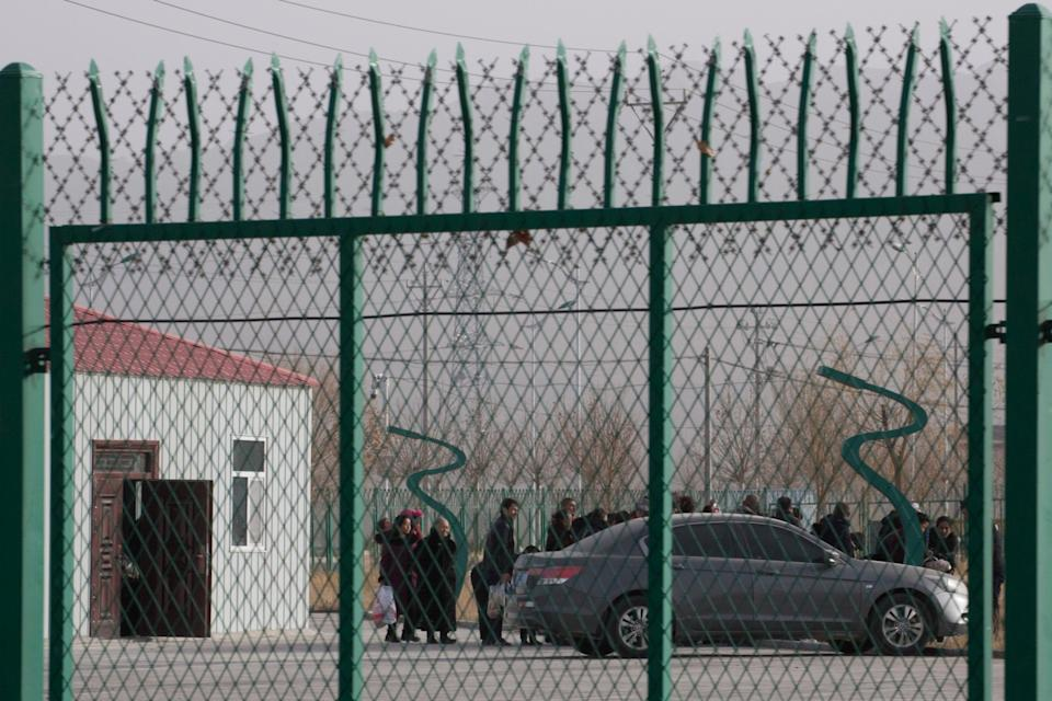 China's persecution of its Uighur Muslim minority has reportedly included forced sterilisation and forced labour AP