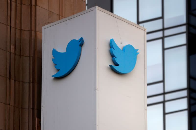 FILE PHOTO: Protest outside Twitter headquarters in San Francisco