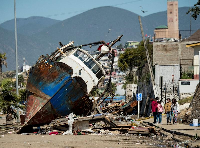 Just last month,an 8.3 earthquake hit Chile, prompting the evacuation of a million people some 445 km north of Santiago, the damage of which can be seen in this picture of the northern port of Coquimbo on September 17, 2015 (AFP Photo/Martin Bernetti)