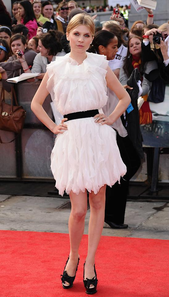 "<a href=""http://movies.yahoo.com/movie/contributor/1808551848"">Clemence Poesy</a> at the London world premiere of <a href=""http://movies.yahoo.com/movie/1810004624/info"">Harry Potter and the Deathly Hallows - Part 2</a> on July 7, 2011."