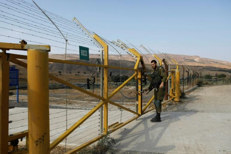 The gate on the Israeli side of the border with Jordan at Naharayim / Baqura was locked on Sunday