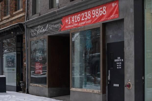 The Queen Street West BIA estimates a commercial vacancy rate in its district of more than 40 per cent.
