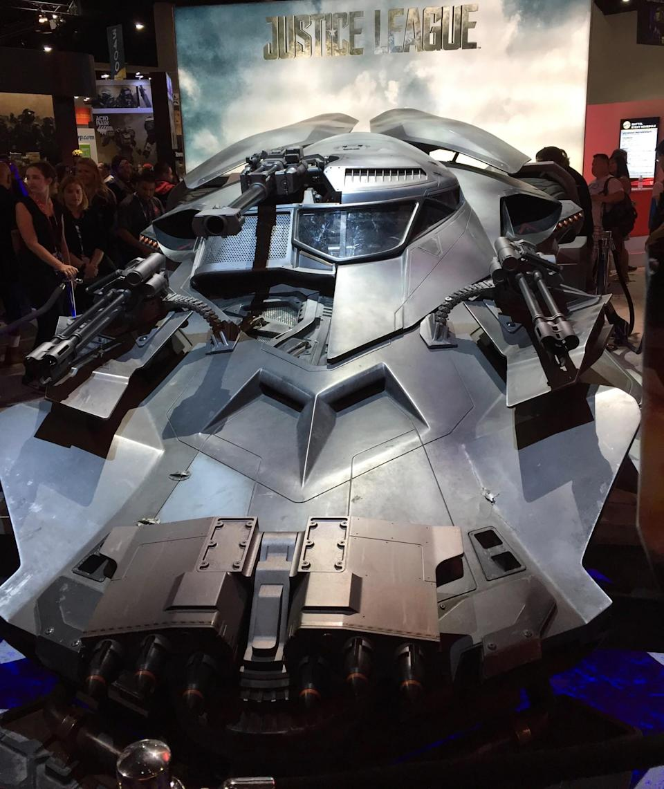 <p>The Dark Knight's newest ride is parked across the floor at the Mattel booth. (Photo: Marcus Errico/Yahoo Movies) </p>