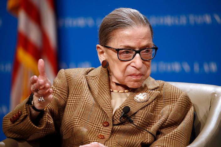 Supreme Court Justice Ruth Bader Ginsburg on Feb. 10, 2020, at Georgetown University Law Center in Washington, D.C.