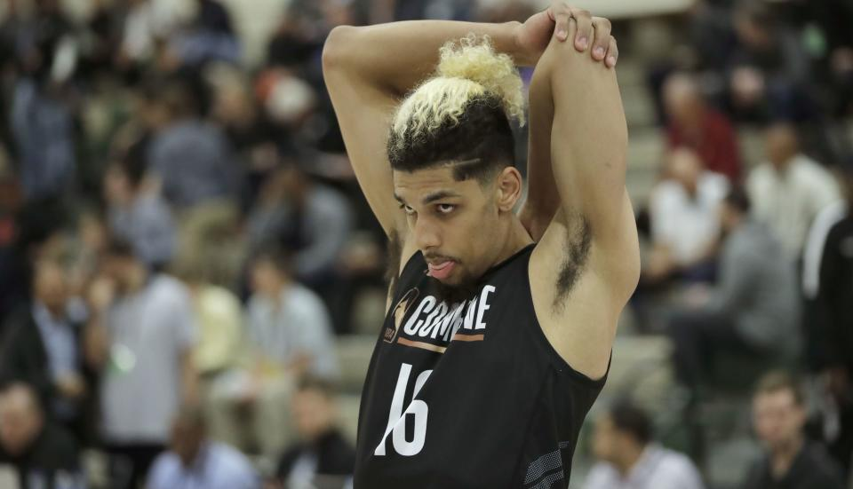 Brian Bowen II participates in the NBA draft basketball combine earlier this month in Chicago. (AP)