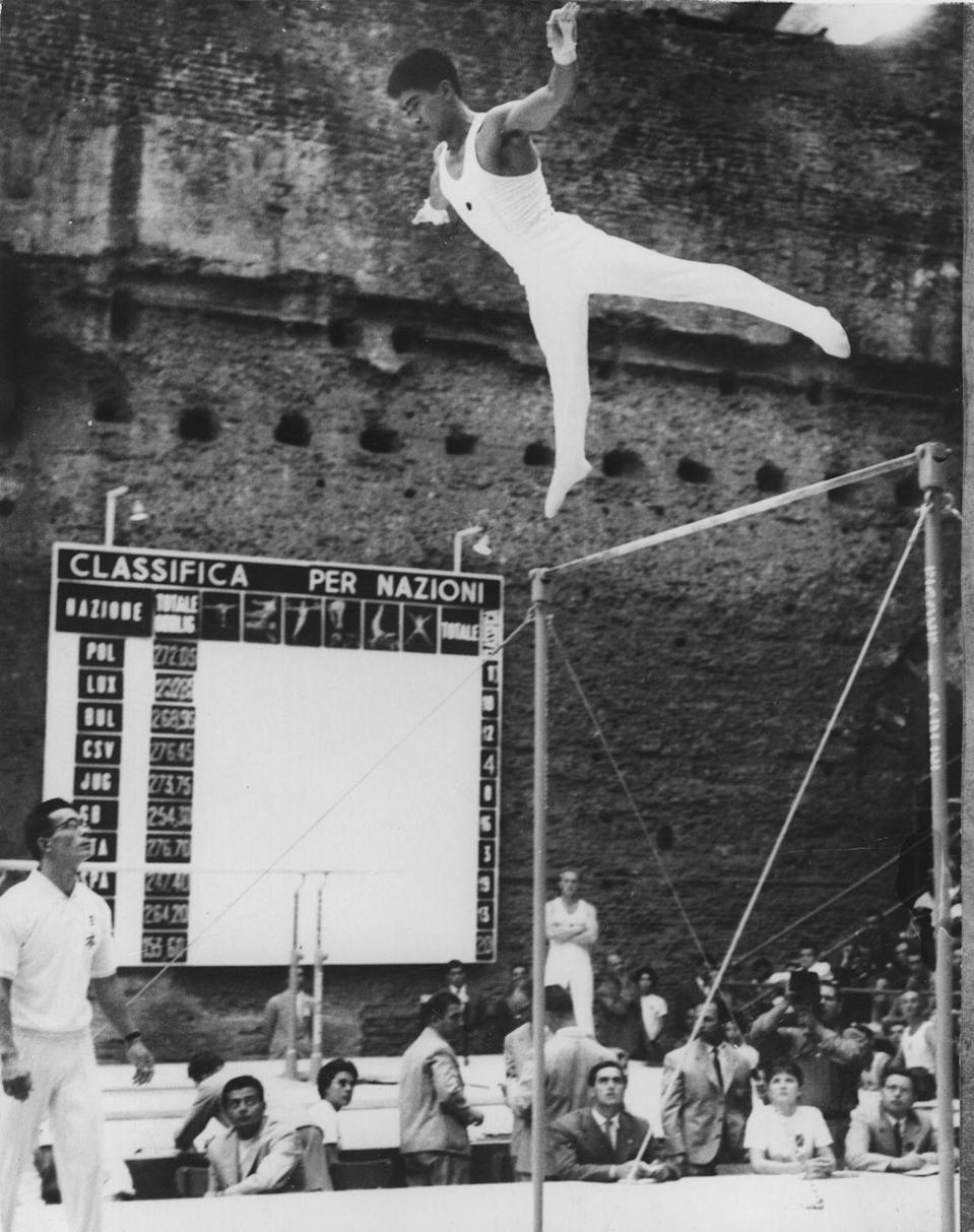 <p>Yukio Endo of Japan helped bring his team to gold during the Rome games, as well as in the 1964 and 1968 games. He also won individual gold at the 1964 games. </p>