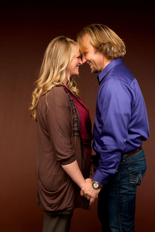 "Christine and Kody in ""Sister Wives."""