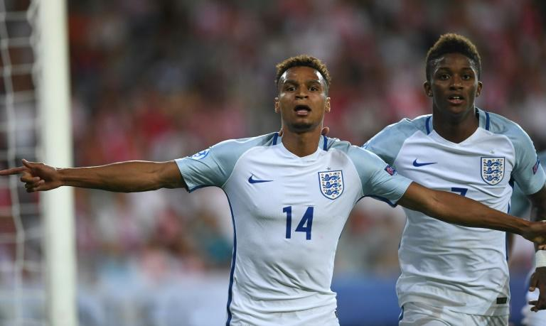Jacob Murphy (left) in action during England's under-21 European Championship match against Poland, on June 22, 2017