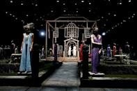 A scene from the Thom Browne show at New York Fashion Week, on September 11, 2021 (AFP/Dominik Bindl)