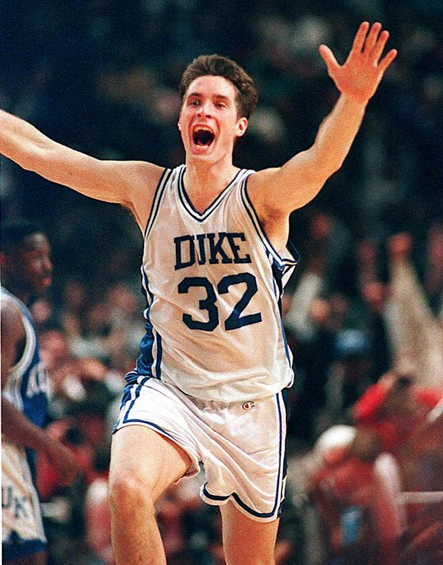<strong>1. Christian Laettner</strong> <br><strong>Why was he hated?</strong> Because he wasn't on your team. Four years, four Final Fours, two national championships. If he did that for your team, you'd love him.