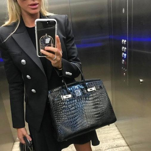 She's revealed her black crocodile bag is one of her favourites. Photo: Instagram