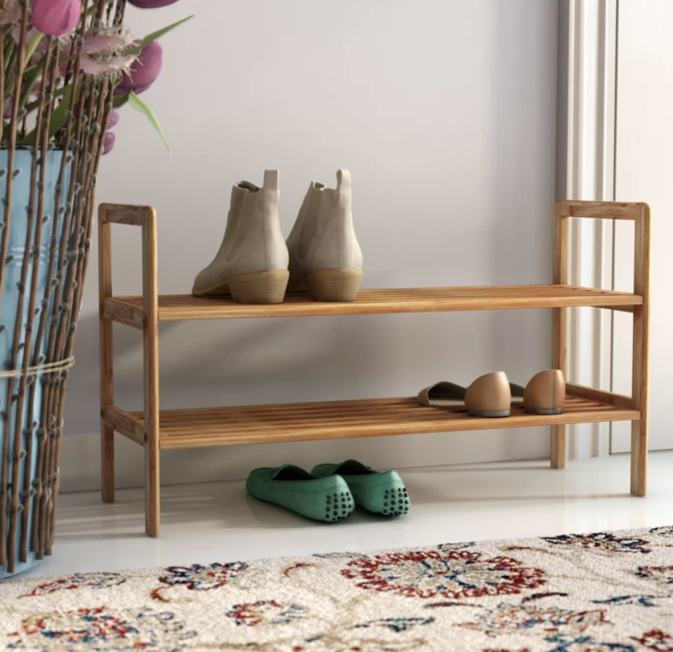No more piles of shoes at your entryway. (Photo: Wayfair)