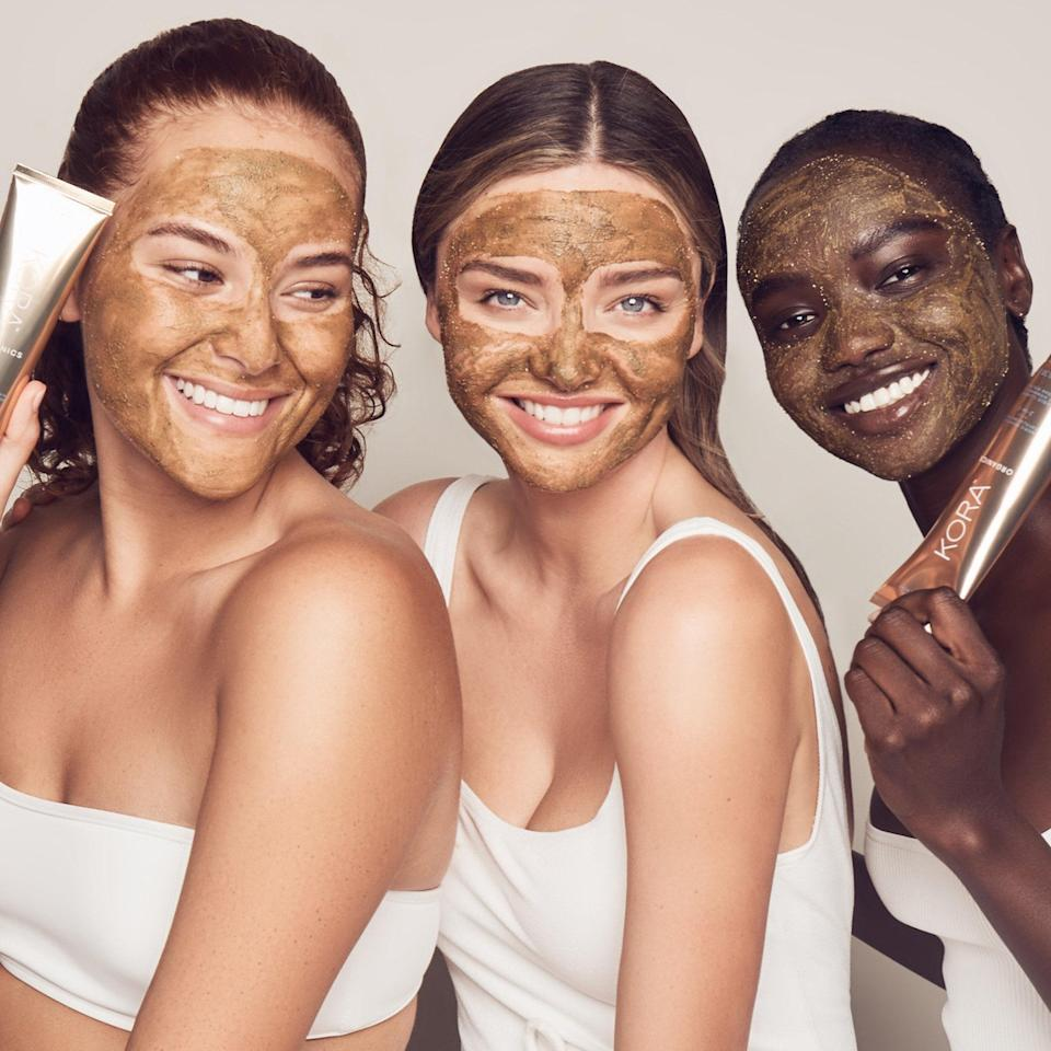 """<p>We have no delusions about becoming supermodel-esque just because we're using a supermodel's skin-care line, but we'll be damned if Miranda Kerr's Kora Organics doesn't make us feel a tiny bit closer to achieving a no-Photoshop-needed complexion. The fact that Kerr deeply cares about what goes into her products only makes them more satisfying to use. """"It's important to be conscious about what you put on your skin. That's why I created these <a href=""""https://www.allure.com/story/miranda-kerr-interview-kora-organics-noni-collection?mbid=synd_yahoo_rss"""" rel=""""nofollow noopener"""" target=""""_blank"""" data-ylk=""""slk:organic, nutrient-rich products"""" class=""""link rapid-noclick-resp"""">organic, nutrient-rich products</a>,"""" she told <em>Allure</em> in 2017. """"There's a misconception that because it's organic it might not work, but why wouldn't you want to put nutrients into your skin so it gets its best opportunity to glow?""""</p> <p><strong>Star product:</strong> The <a href=""""https://www.allure.com/review/kora-organics-noni-glow-face-balm?mbid=synd_yahoo_rss"""" rel=""""nofollow noopener"""" target=""""_blank"""" data-ylk=""""slk:Best of Beauty-winning"""" class=""""link rapid-noclick-resp"""">Best of Beauty-winning</a> Noni Glow Face Balm is one of our favorite ways to make moisturizing more portable. """"After gliding the slick — but not greasy — balm over my face, I can immediately feel my combination-to-dry skin soaking up all the moisturizing ingredients,"""" <em>Allure</em>'s former social media manager Danielle Odiamar says.</p>"""