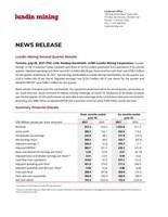 Lundin Mining Second Quarter Results (CNW Group/Lundin Mining Corporation)