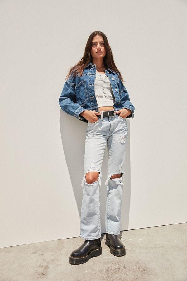 "<p>How cool are these vintage-inspired <a href=""https://www.popsugar.com/buy/BDG-Mid-Rise-Bootcut-Jeans-483391?p_name=BDG%20Mid-Rise%20Bootcut%20Jeans&retailer=urbanoutfitters.com&pid=483391&price=64&evar1=fab%3Auk&evar9=46530759&evar98=https%3A%2F%2Fwww.popsugar.com%2Ffashion%2Fphoto-gallery%2F46530759%2Fimage%2F46530882%2FBDG-Mid-Rise-Bootcut-Jeans&list1=shopping%2Cfall%20fashion%2Curban%20outfitters%2Cfall&prop13=api&pdata=1"" rel=""nofollow"" data-shoppable-link=""1"" target=""_blank"" class=""ga-track"" data-ga-category=""Related"" data-ga-label=""https://www.urbanoutfitters.com/shop/bdg-mid-rise-bootcut-jean-destroyed-light-wash?category=jeans-for-women&amp;color=092&amp;type=REGULAR"" data-ga-action=""In-Line Links"">BDG Mid-Rise Bootcut Jeans</a> ($64)?</p>"