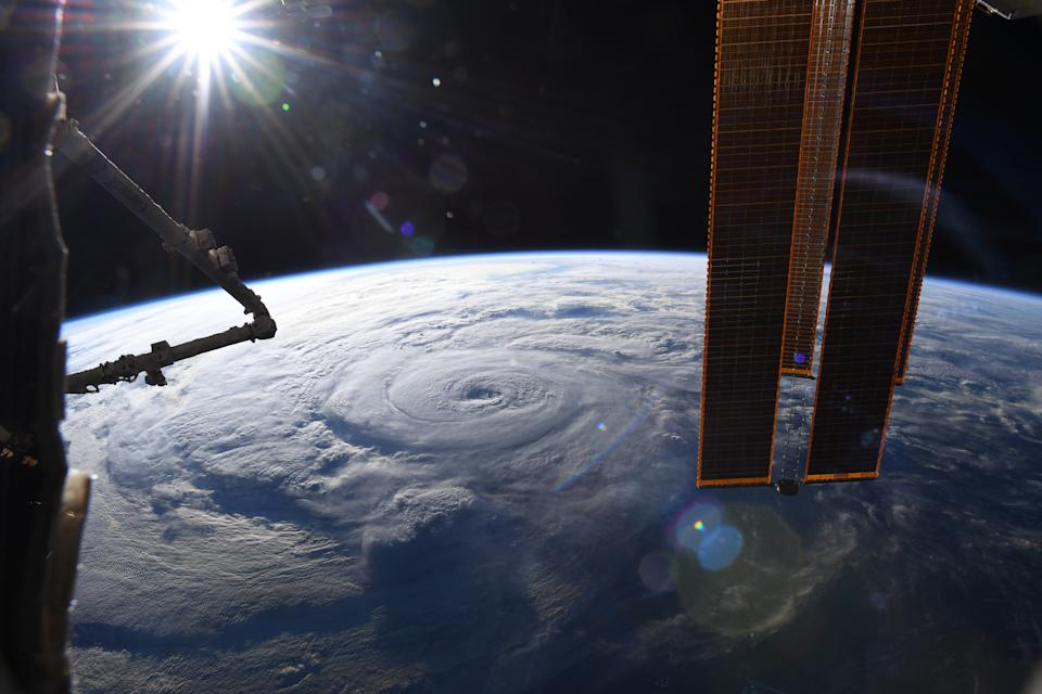 NASA astronaut Chris Cassidy shared this photo of Hurricane Genevieve snapped from the International Space Station. The storm, which is enormous and swirling on in the Pacific Ocean, has grown into a Category 4 hurricane.