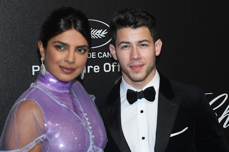 CANNES, FRANCE - MAY 17: Priyanka Chopra and Nick Jonas attends the Chopard Party during the 72nd annual Cannes Film Festival on May 17, 2019 in Cannes, France. (Photo by Stephane Cardinale - Corbis/Corbis via Getty Images)