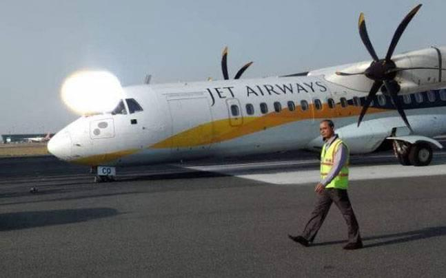 Delhi: Jet Airways flight with 65 on board faces nose wheel malfunction during landing, all passengers safe