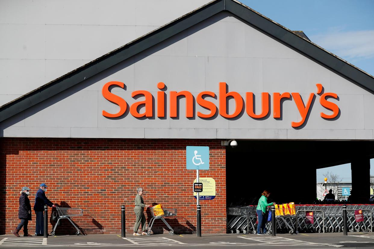 Sainsbury's stock jumped 15% on Monday after speculation the company could become a target for privae equity takeover. Photo: Lee Smith/Reuters