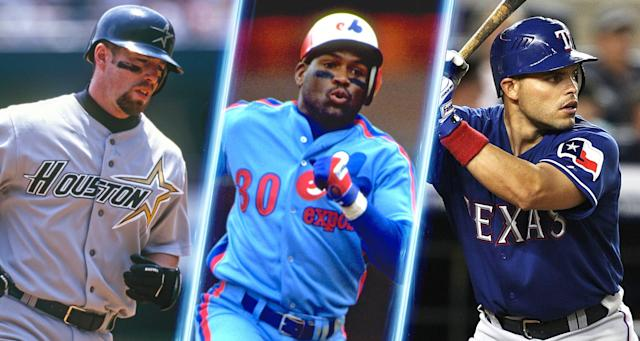 Jeff Bagwell, Tim Raines and Pudge Rodriguez will join John Schuerholz and Bud Selig in Cooperstown. (Getty Images)