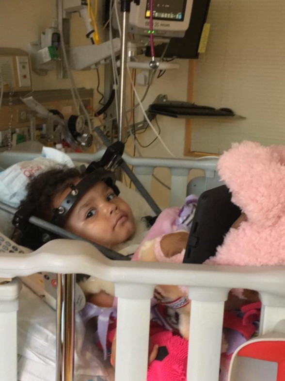 Aniyah was just two years old when she was in the car accident. Photo: Facebook/Tanya Bender