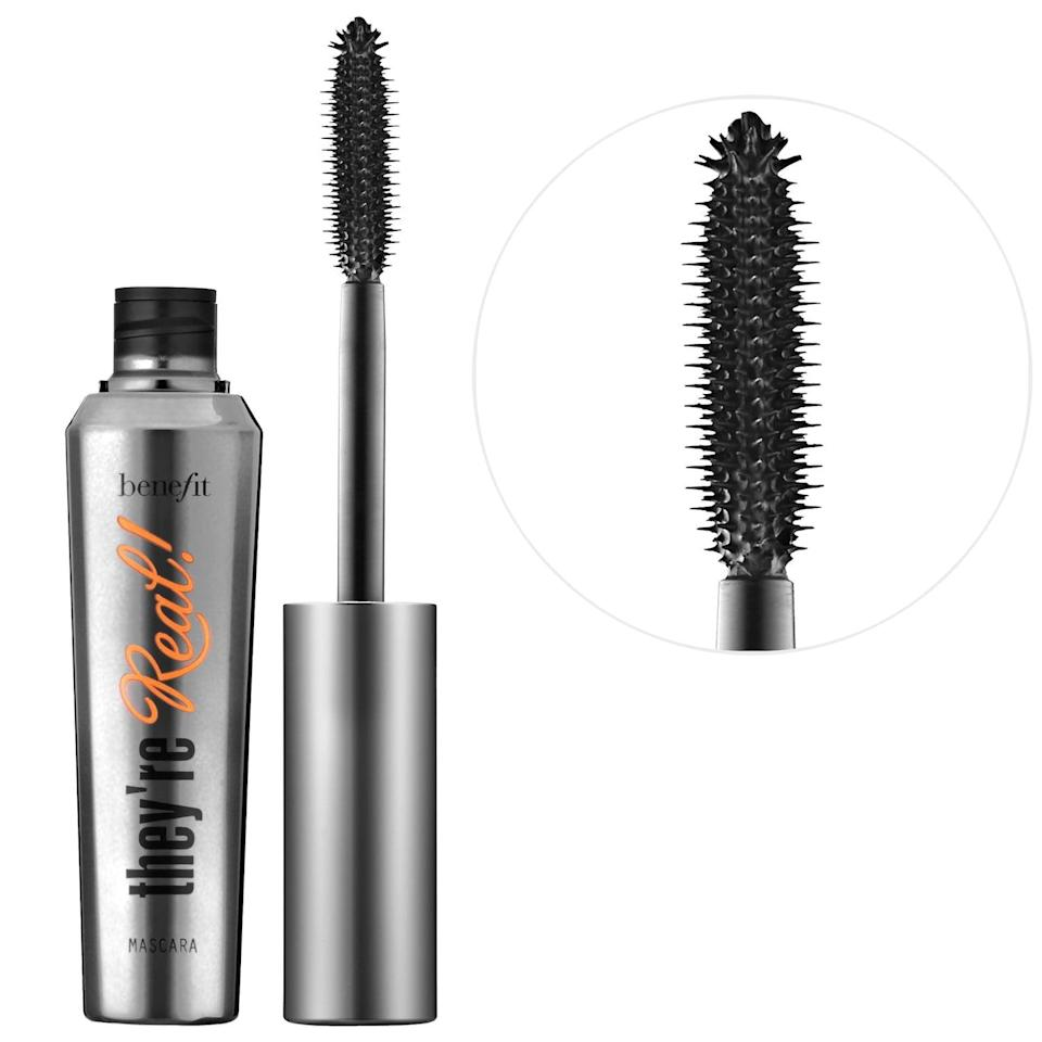 <p>With its smudge and clump-proof formula, <span>Benefit Cosmetics They're Real! Lengthening &amp; Volumizing Mascara</span> ($26) gives your lashes the kind of length and volume you probably never knew you could achieve.</p>