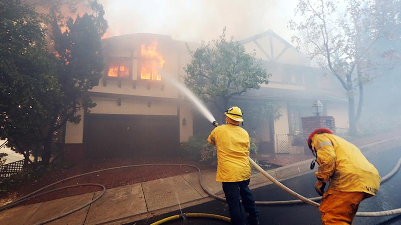 Bel-Air Fire Continues to Burn