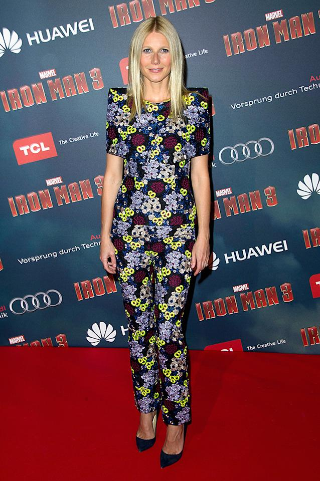 PARIS, FRANCE - APRIL 14:  Actress Gwyneth Paltrow poses during the 'Iron Man 3' photocall at Le Grand Rex on April 14, 2013 in Paris, France.  (Photo by Pascal Le Segretain/WireImage)
