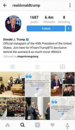 Donald Trump Insta account