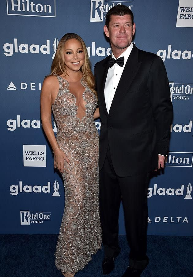 Mariah and James had been due to tie the knot this year. Source: Getty Images.