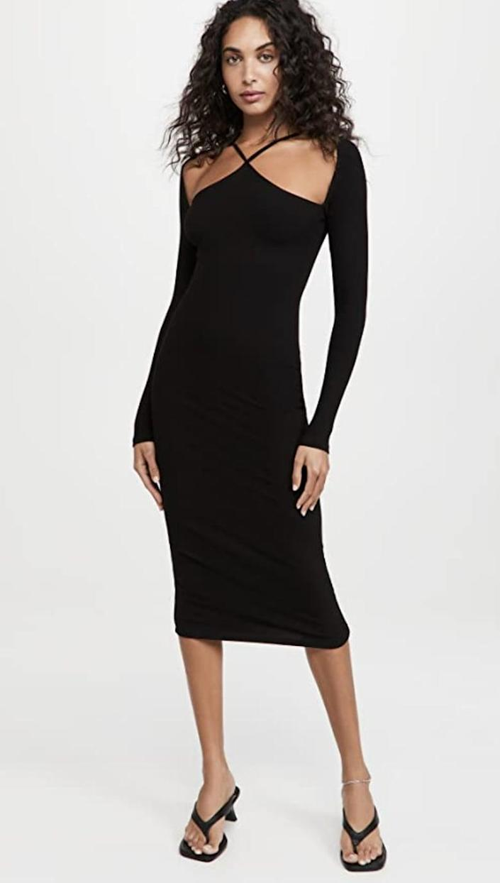 <p>The unexpected cutouts and crisscross details of this <span>Lioness Crossing The Line Midi Dress</span> ($79) make it extremely flattering, while the fitted bodice makes it feminine and elevated. Pair it with thong sandals, and you're ready for a sexy night out.</p>