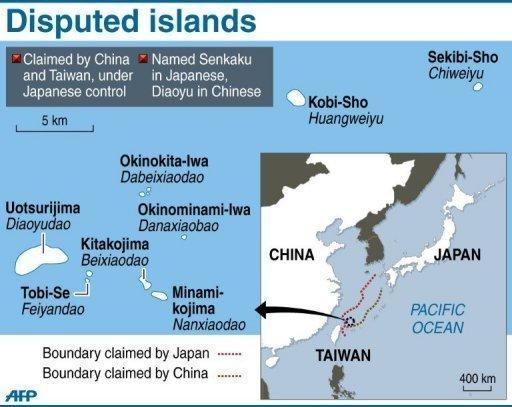 A set of islands claimed by China and Japan. Japan has made 14 arrests after pro-China activists landed on an island at the centre of a bitter territorial dispute, in an episode that threatens to further destabilise fractious relations